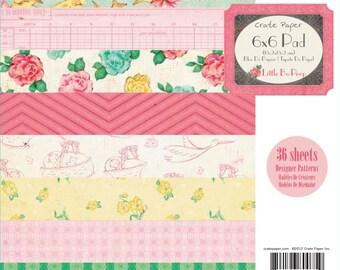 "American Crafts - Little Bo Peep, 6"" X 6"" paper pad"