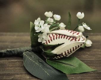 Baseball Rose Boutineer