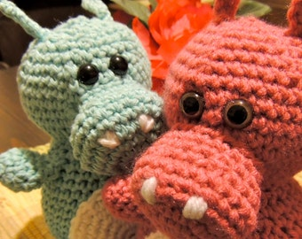 The Not So Hungry Hippo Amigurumi - Various Colors - Made-to-Order