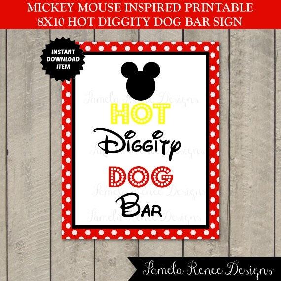 INSTANT DOWNLOAD Mickey Mouse 8x10 Hot by PamelaReneeDesigns