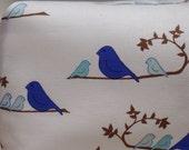 Blue birds crib sheet