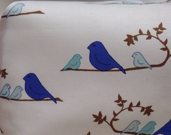 Blue birds crib sheet
