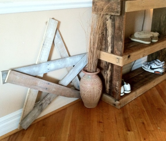 Items Similar To Reclaimed Pallet Wood Star Wall Hanging