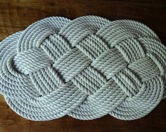Cotton Rope Rug  (29 x 16)
