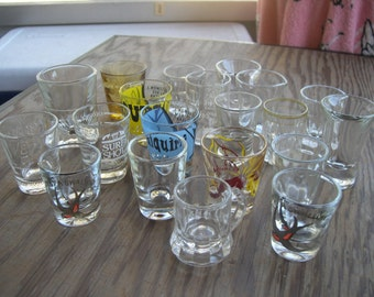 SALE --- Twenty Shot Glasses assorted --- Reduced