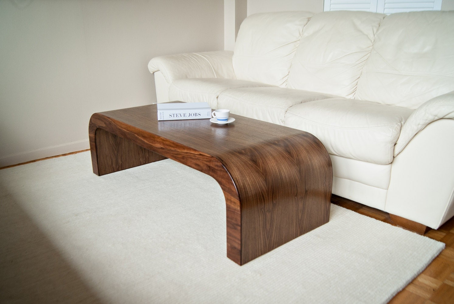 Wood Coffee Table / Walnut Accent Table / Wood TV Stand / Wood Console /  Wood Side Table   Walnut Equal Long Coffee Table