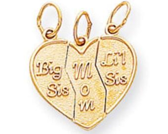 Break Apart Big Sis, Mom, Lil Sis Charm (JC-088)