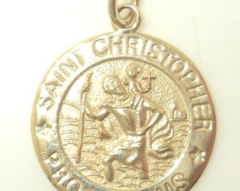 Saint Christopher Protect Us Pendant (JC-224)
