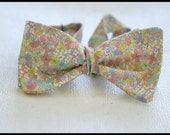 Men's floral self tie bow tie in Liberty of London fabric