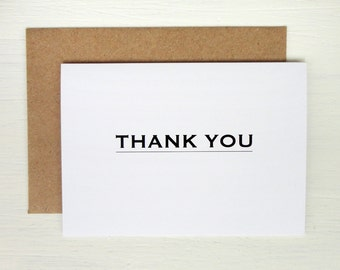 Thank you card minimalist greeting card elegant modern print