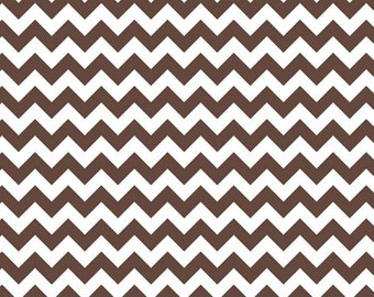 3 Yards Small Chevron Brown Riley Blake Cotton Fabric Chocolate Brown