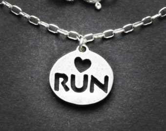 Sterling Love to Run Necklace
