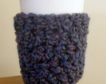 Coffee Cup Sleeve Cozy Take Out Coffee Cup Sleeve Cozy Purple Coffee Cup Sleeve Purple Take Out Coffee Cup Sleeve Crochet Coffee Cup Sleeve