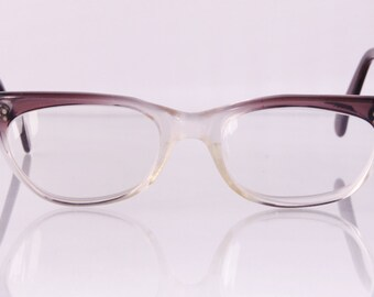 Two tone 1960s horn rim fade glasses, Freeway Fade