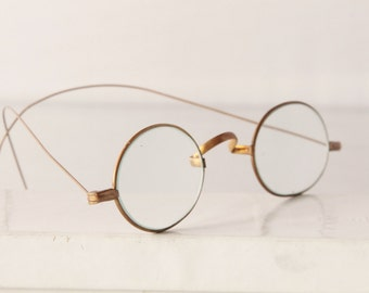 Antique brass Edwardian spectacles,oval,  glasses, The Side Show