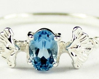London Blue Topaz, 925 Sterling Silver Ring, SR192