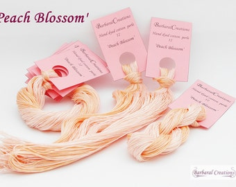 Hand dyed cotton perlé 12 - 'Peach Blossom'