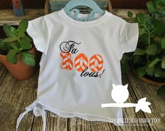Applique Halloween Fa-boo-lous Shirt, Applique, Embroidery, Children's Clothing, Kid's, TShirt Tee Shirt, Halloween, Faboolous, Fall, Girl's