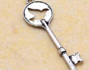 20 pcs of antique silver peace dove key pendant  length 45mm