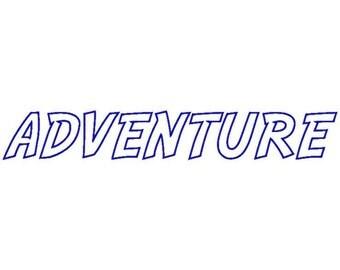 Adventure Machine Applique Embroidery Fonts  1892