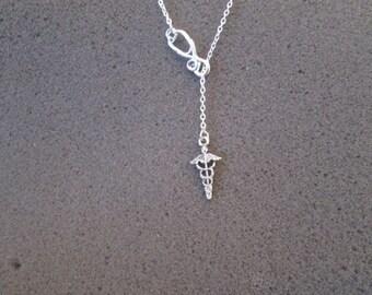 Choose your length - Doctor / Nurse Necklace - Lariat Necklace