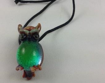 Owl - Glass Necklace