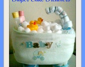 items similar to mini bathtub diaper cake on etsy. Black Bedroom Furniture Sets. Home Design Ideas