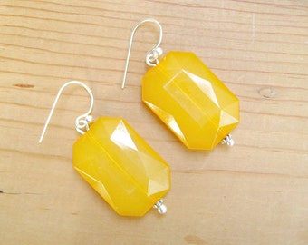 Mustard Yellow Drop earrings, Mustard yellow earrings