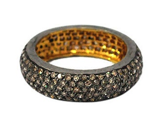 Victorian Eternity Band made with 4.90ct natural rose cut diamond, Free Shipping