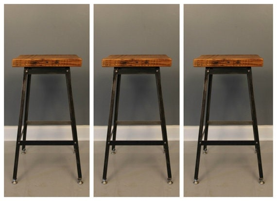 Barstool Set of 3 Industrial Stool Bar Stool Shop by DendroCo : il570xN535405424ish1 from www.etsy.com size 570 x 413 jpeg 34kB