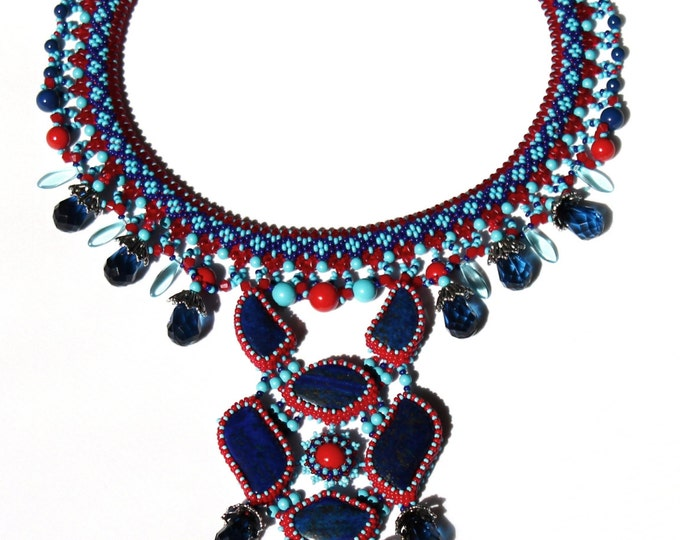"Necklace ""Tonatiuh"" necklace pendant Swarovski"