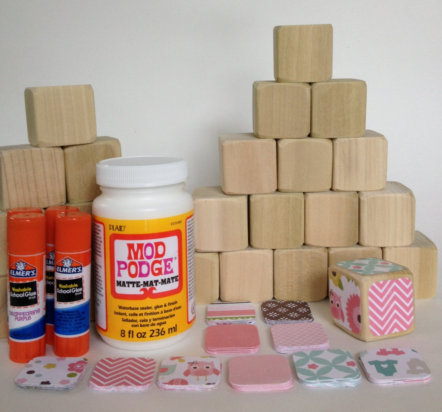 Diy Wood Baby Blocks Baby Girl Baby Shower Craft