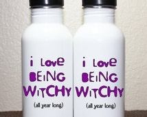 halloween stainless steel water bottle. I love being witchy (all year long)