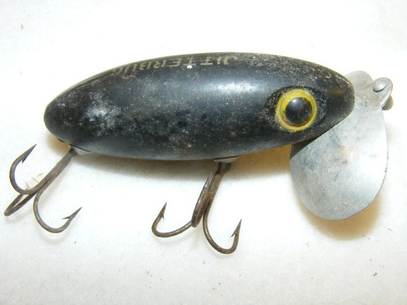 1950 39 s fred arbogast jitterbug vintage fishing lure for Jitterbug fishing lure
