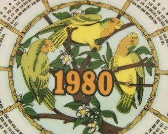 Wedgewood 1980 Calendar Plate - African Safari Design