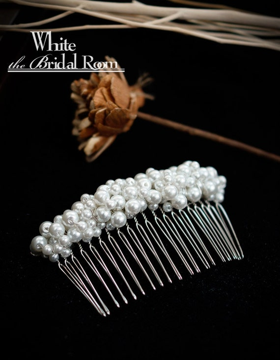 Bridal Hair Comb, Wedding Bridal Hairpiece, Pearls Hair Comb, Bridesmaids Hair Accessory