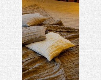 Linen Pillow Cover Natural White Decorative / Throw Pillow Cover / Linen Cushion Cover / Decorative Linen Sham / Linen Pillowcase