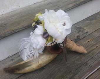 rustic wedding boquet, vintage boquet, shabby chic wedding