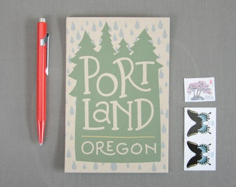 Illustrated Postcards  //  Set of 6  //  Portland Oregon