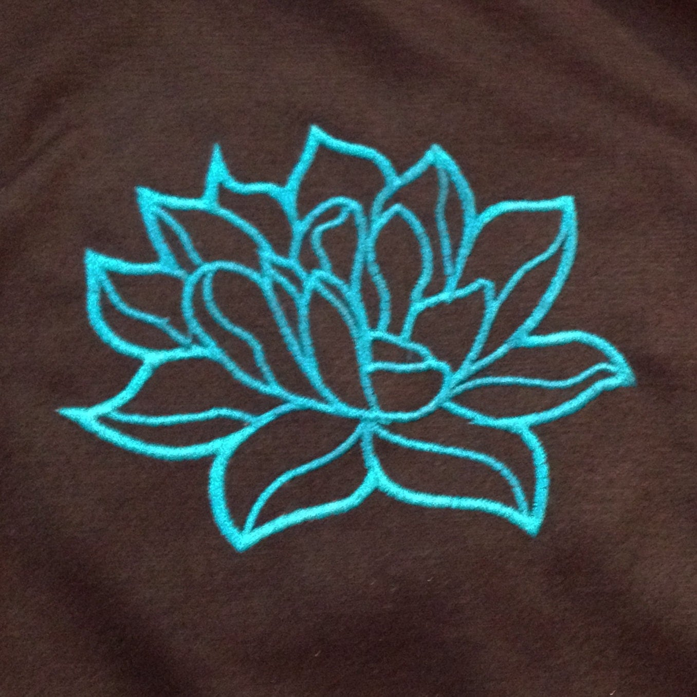 Modern and elegant lotus flower applique embroidery design