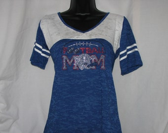 Football Mom with Helmet Jersey Shirt
