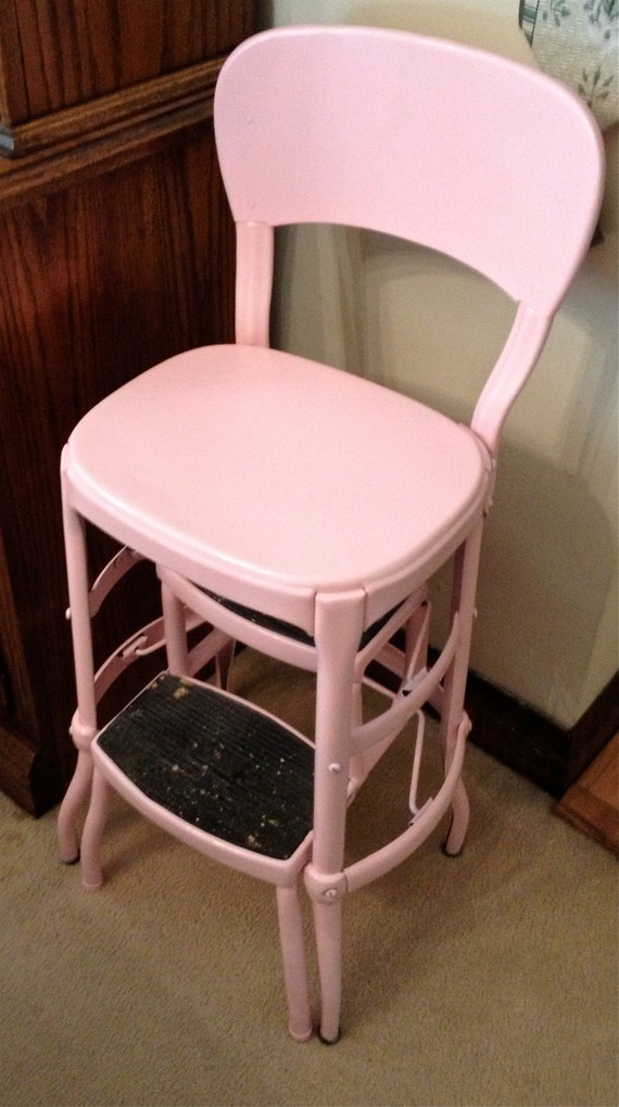 Vintage Pink Costco Stepstool Chair Local Pick Up Only