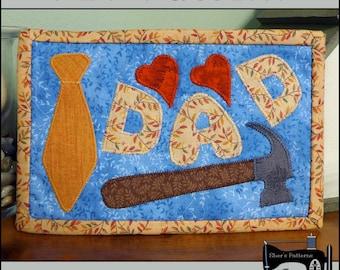 PDF Pattern for Dad Mug Rug, Dad Mug Rug Pattern, Dad Mini Quilt Pattern - Sewing Pattern, Tutorial, DIY
