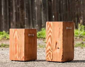 Reclaimed Colorado Timber Stools