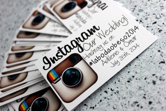 Business card sized Instagram our wedding cards Instagram