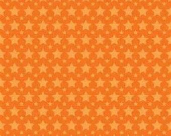 CLEARANCE - Boys Stars Orange by Riley Blake, 1/2 yard