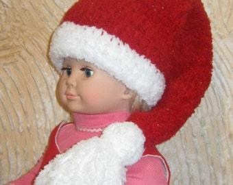 Christmas Santa hat for baby. Newborn Santa Hat. Crocheted Santa Hat.