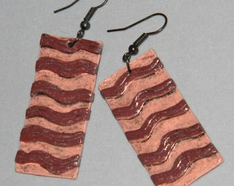 Earrings Distressed Boho Polymer Clay Mid Century Modern Jewelry Women Casual Dangles FLOW by ArtCirque Donna Pellegata