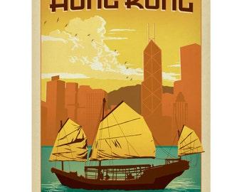 Hong Kong China City Skyline Wall Decal #42236