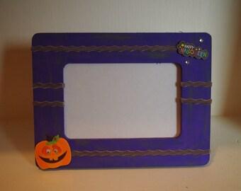 Halloween Picture Frame| Pumpkin Frame| Halloween Decor| Fall Decor